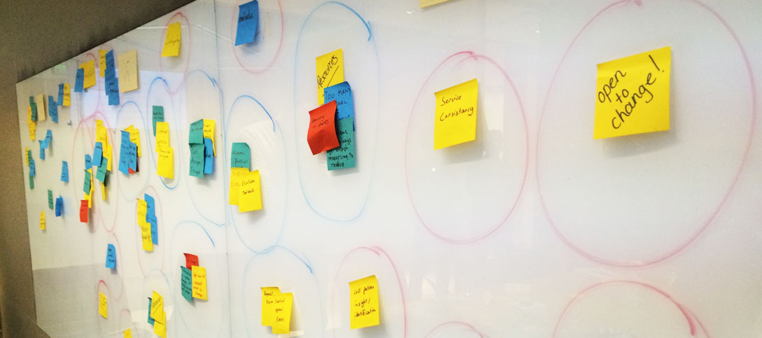 The Agile Eleven run an IT service desk vote on prioritising action points in a team for organisational agility